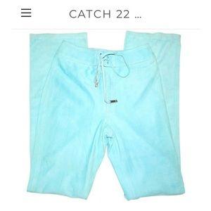 Ralph Lauren Vintage Blue Suede Lace Up Pants sz 4